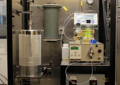 High pressure packed-bed flow reactor for gas phase reactions