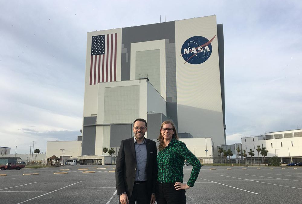 Elspeth and Prof. Tessonnier visit the Kennedy Space Center at Cape Canaveral